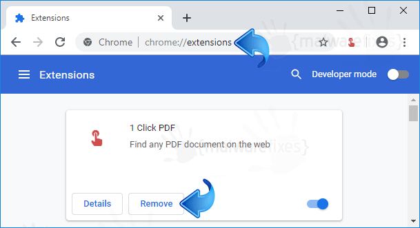 1 Click PDF Chrome Extension