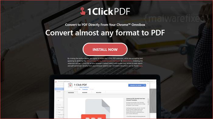 Image of 1 Click PDF website