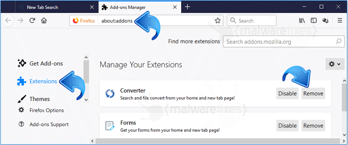 Search.hdownloadconverter.com Firefox Extension