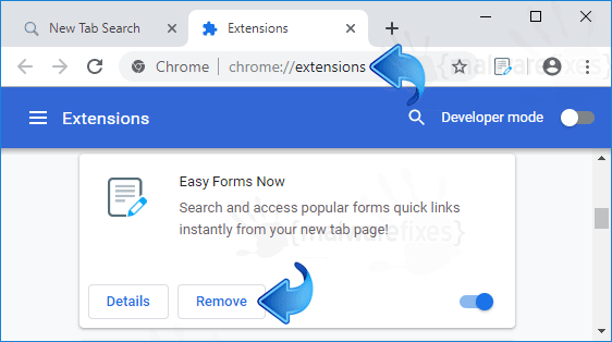 Search.heasyformsnow.com Chrome Extension