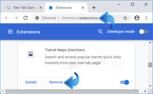 Search.htransitmapsdirections2.com Chrome Extension