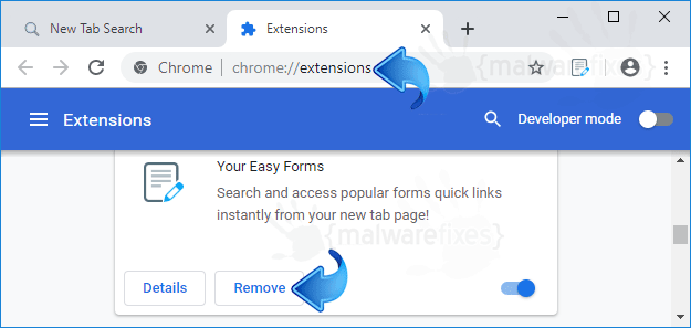 Search.hyoureasyforms.com Chrome Extension