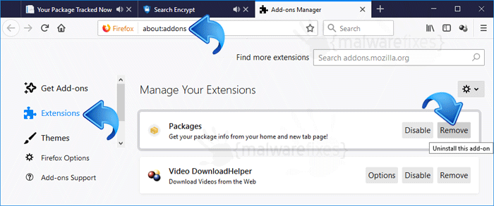 Your Package Tracked Now Firefox Extension