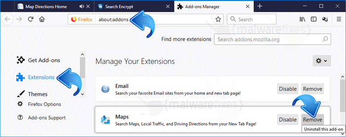 Map Directions Home Firefox Extension