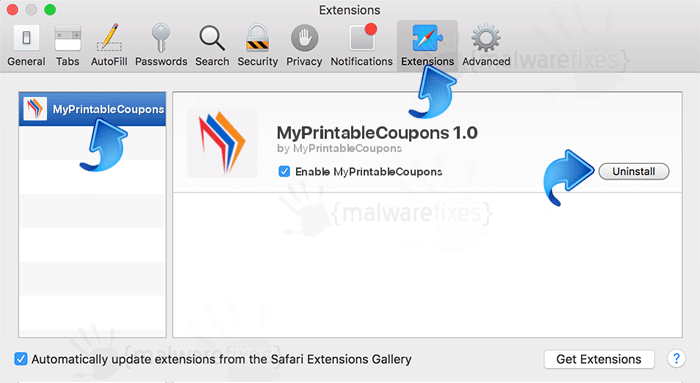 MyPrintableCoupons Safari Extension