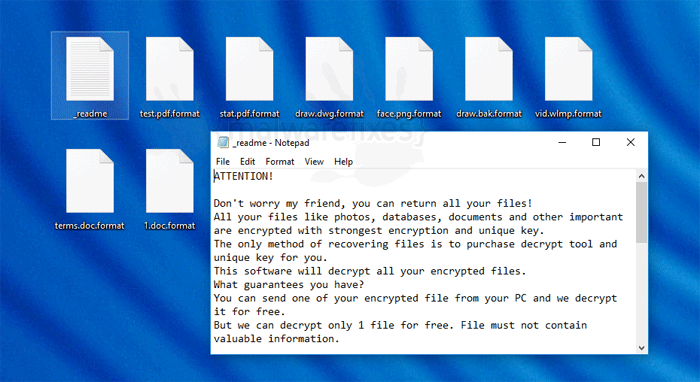 Image of Format ransomware files