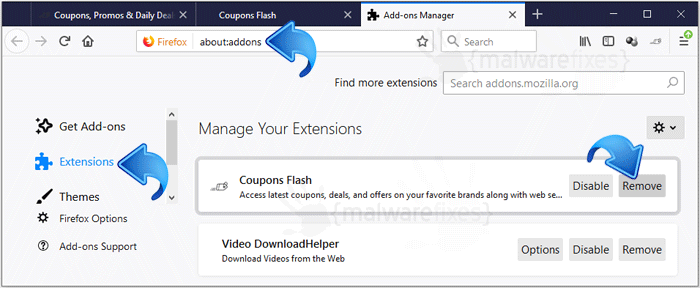Coupons Flash Firefox Extension