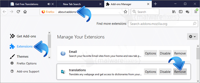 Get Free Translations Firefox Extension