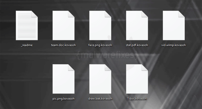 Image of Kovasoh infected files