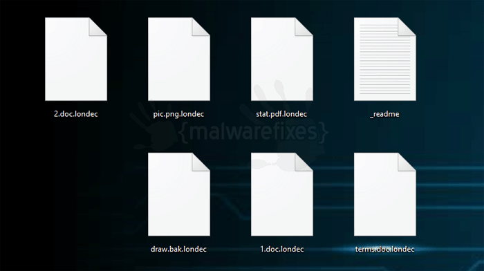 Image of Londec encrypted files