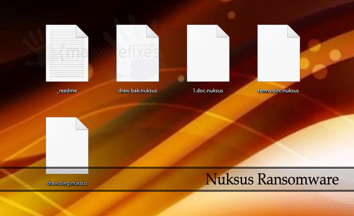 Image of Nuksus infected files