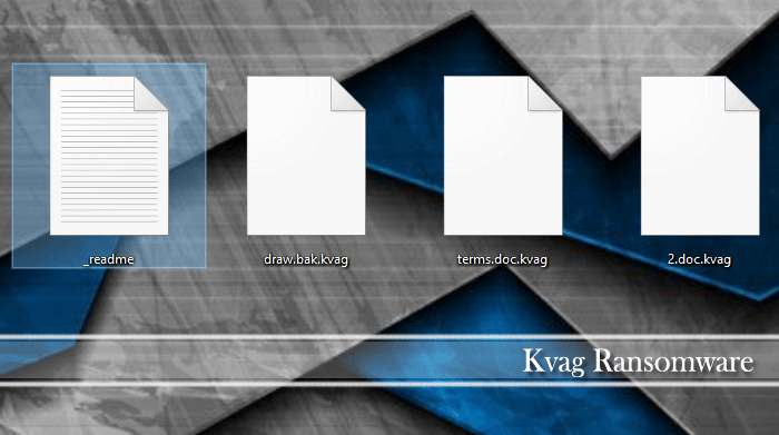 Image of Kvag encrypted files