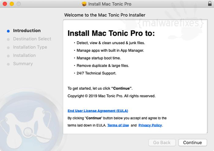 Installing Mac Tonic Pro Interface (GUI)