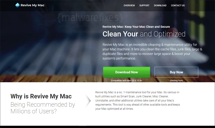 Image of Revive My Mac download page