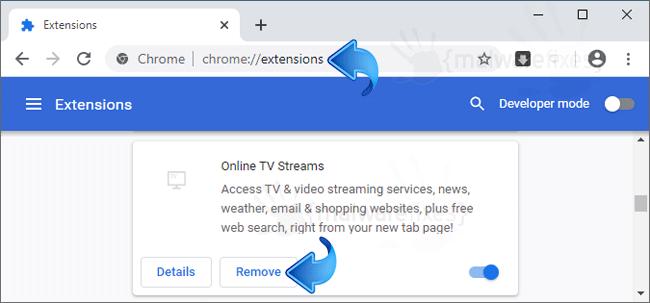 Online TV Streams Chrome Extension
