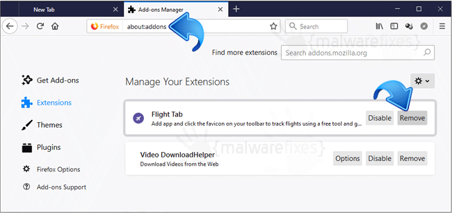 Flight Tab Firefox Extension