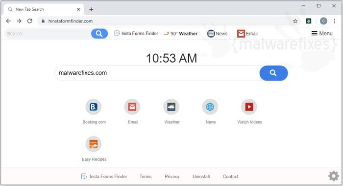 Website image of Insta Forms Finder