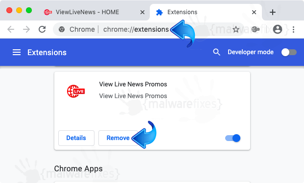 View Live News Promos Chrome Extension