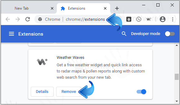Weather Waves Chrome Extension