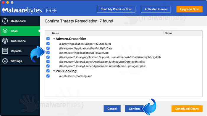 Screenshot image of Malwarebytes Scanner