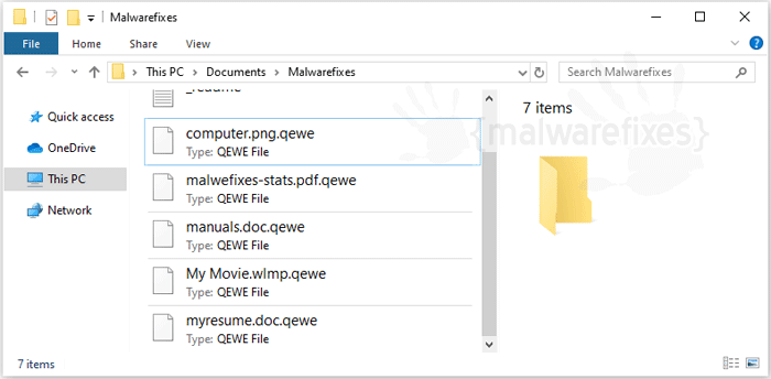 Image of Qewe Ransomware