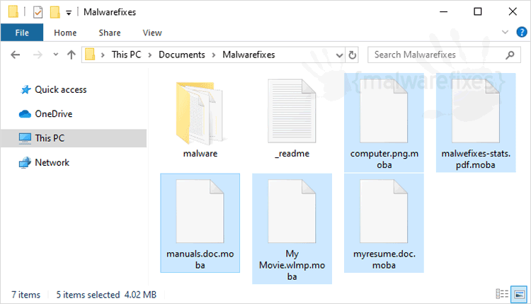 Image of Moba Infected Files