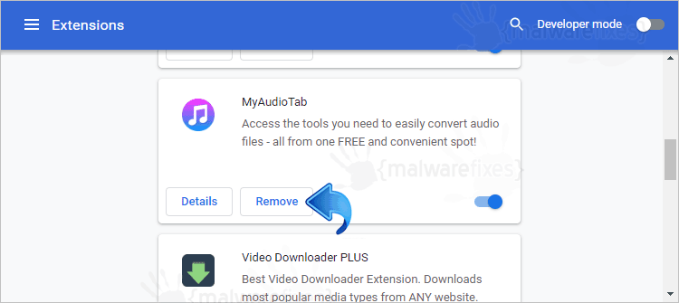 MyAudioTab Chrome Extension