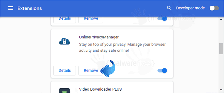 OnlinePrivacyManager Chrome Extension