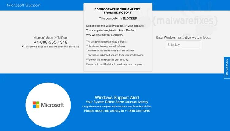"""Pornographic Virus Alert From Microsoft"""