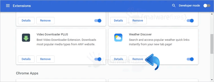 Weather Discover Chrome