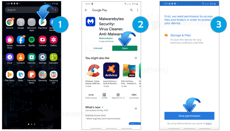 Scan Android with Malwarebytes