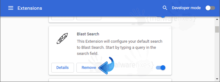 Blast Search Chrome Extension