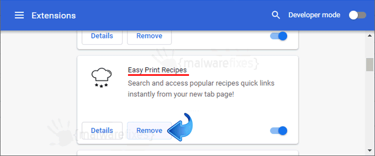 Easy Print Recipes Chrome Extension