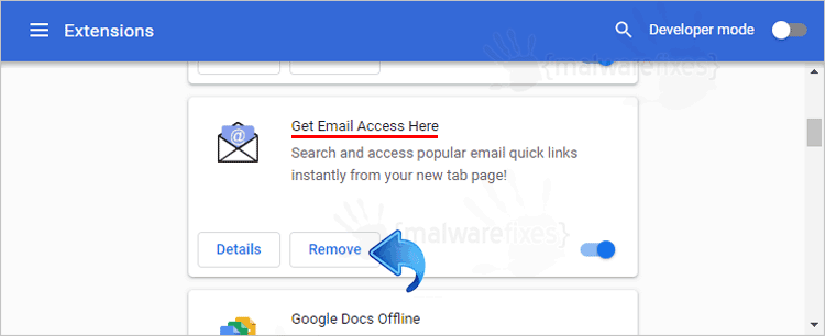 Get Email Access Here Chrome Extension