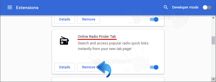 Online Radio Finder Tab Chrome Extension