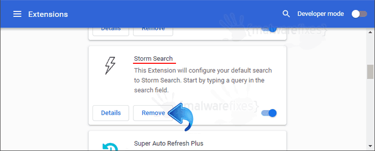Storm Search Chrome Extension
