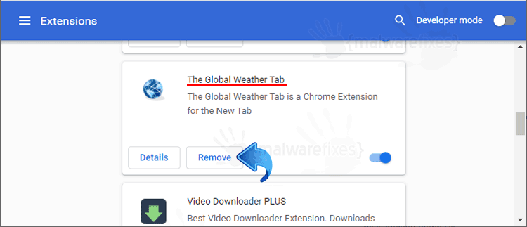 The Global Weather Tab Chrome Extension