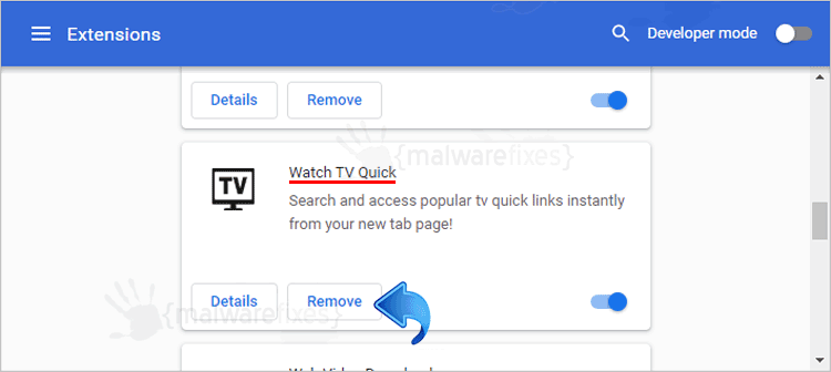 Watch TV Quick Chrome Extension