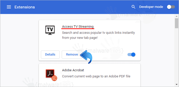 Access TV Streaming Chrome Extension