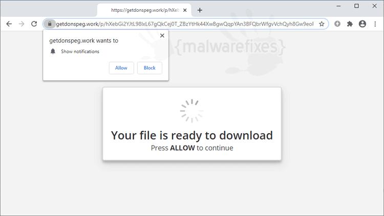 Screenshot Image of Getdonspeg.work