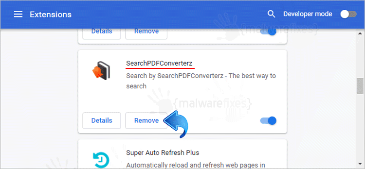 SearchPDFConverterz Chrome Extension