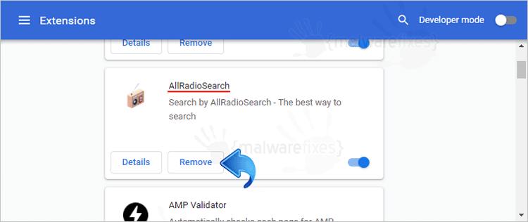 AllRadioSearch Chrome Extension