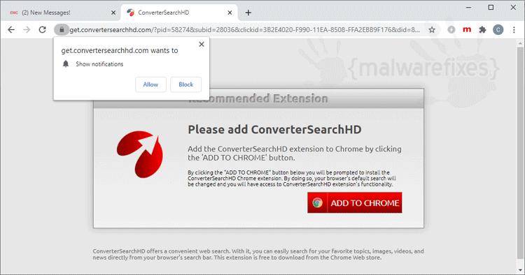 Convertersearchhd.com Hijacker