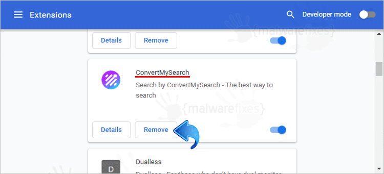ConvertMySearch Chrome Extension