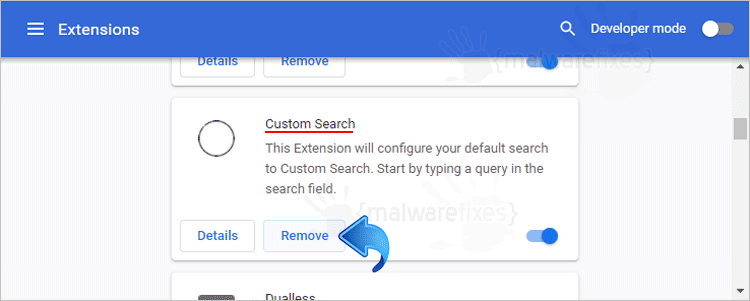 Custom Search Chrome Extension