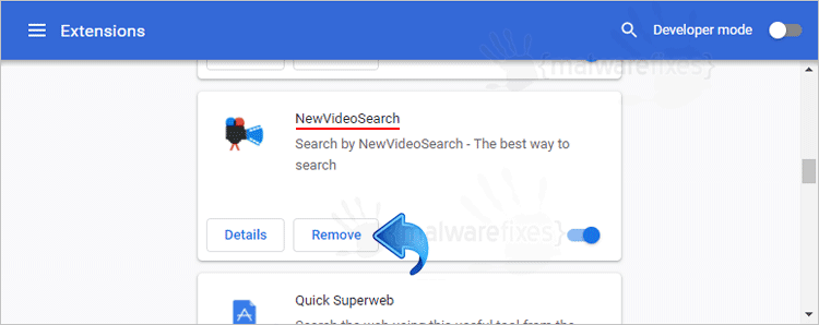 NewVideoSearch Chrome Extension