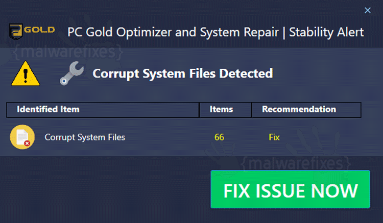 PC Gold Optimizer Taskbar