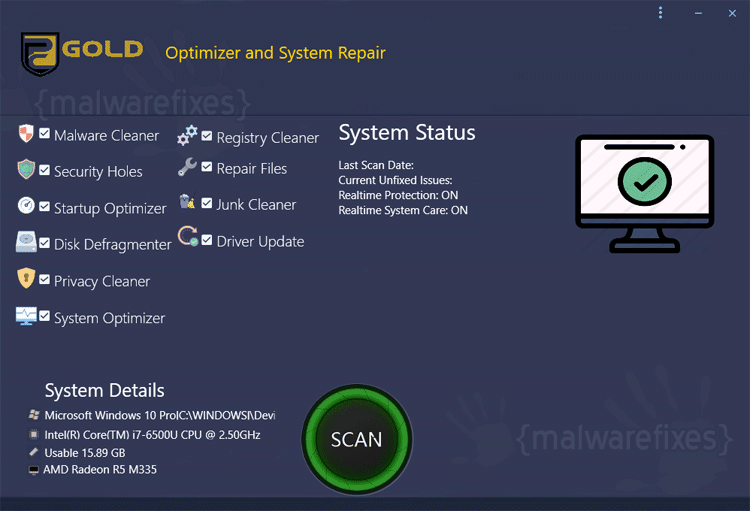 PC Gold Optimizer Scanner