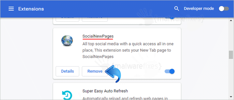 SocialNewPages Chrome Extension