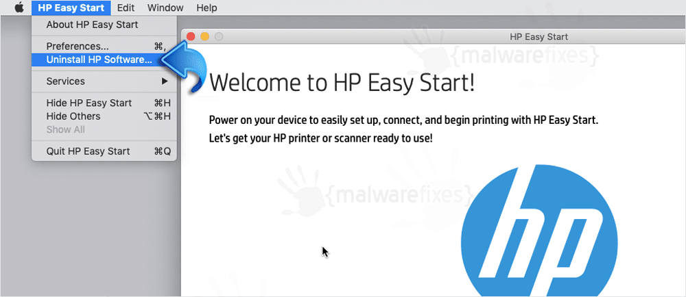 Image of HP Easy Start Uninstall